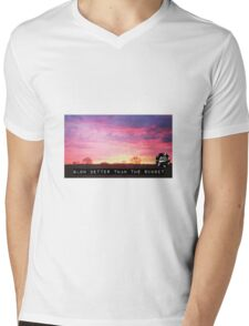 Glowing Sunset Mens V-Neck T-Shirt