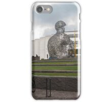 Letter statue and wall in Borås iPhone Case/Skin