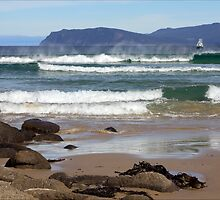 Incoming surf, Bruny Island, Tasmania by pfleur