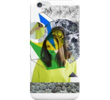 Yellow collage with nature iPhone Case/Skin