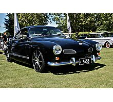 Black Karmann Ghia Photographic Print