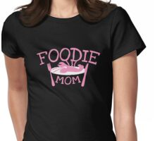 FOODIE MOM with a lobster on a plate Womens Fitted T-Shirt