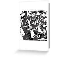 Modern Black & White Paint Splattered Triangles Greeting Card
