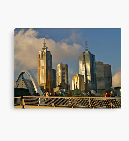Sunset, Melbourne, Victoria, Australia.  Canvas Print