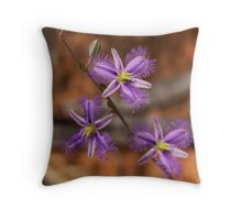 Fringed Lilly Throw Pillow