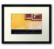Yellow wall :: Window Framed Print