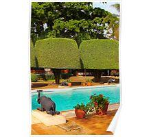 Swimming pool at Nairobi Safari Park Resort Poster