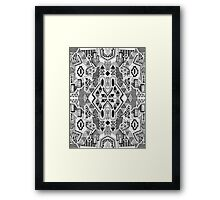 Busy Body Line Pattern Framed Print