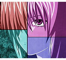 elfen lied lucy anime manga shirt Photographic Print