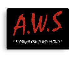AWS - Straight Outta Tha Cloud Developer t-shirt Canvas Print