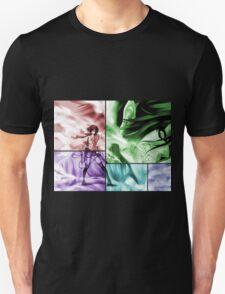 attack on titan eren yeager mikasa ackerman anime manga shirt T-Shirt