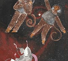 Space Animals Collection #1 by Printsnjunk