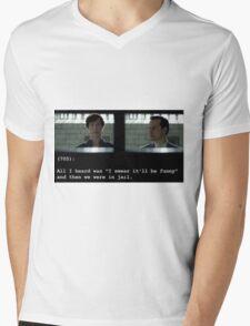I swear it'll be funny! Mens V-Neck T-Shirt