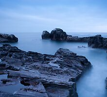 Sea of Silk - Godrevy Point by James Stoddern