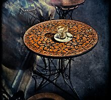 Empty Glass on Table by Manfred Belau