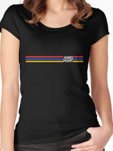 James Hunt Helmet Stripes design Women's Fitted Scoop T-Shirt