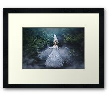 The stairs to the long night of grief Framed Print