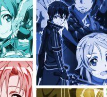 sword art online kirito asuna anime manga shirt Sticker