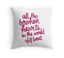 Girls Chase Boys Throw Pillow