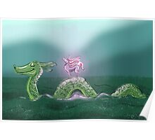 Nessie and Uni Poster