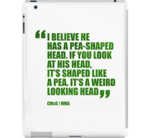 Conor McGregor - Quotes [Pea Head Green] iPad Case/Skin