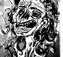 Eyeball Poppin' Lady by Printsnjunk
