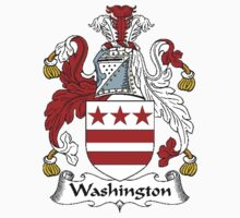 Coat of arms (family crest) for last-name or surname Washington . Heraldry banner for your name. Kids Clothes