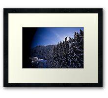 Austrian Alps - The picturesque estate Framed Print