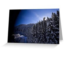 Austrian Alps - The picturesque estate Greeting Card