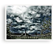 Gothic Hell Skull Canvas Print