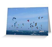 Kite surfers - Race from Rottenest to Cottesloe Greeting Card