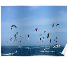 Kite surfers - Race from Rottenest to Cottesloe Poster