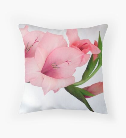 Glad to be pink Throw Pillow