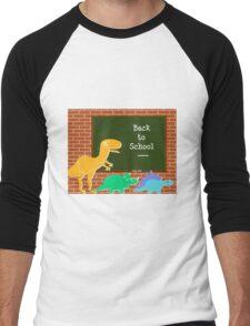 Back to School Cute Dinosaurs for Kids Men's Baseball ¾ T-Shirt