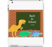 Back to School Cute Dinosaurs for Kids iPad Case/Skin