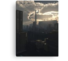 Future City in Early Evening Light Canvas Print