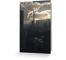 Future City in Early Evening Light Greeting Card
