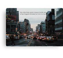 New York Dreams Canvas Print