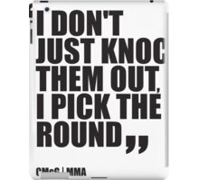 Conor McGregor - Quotes [Pick the Round] iPad Case/Skin