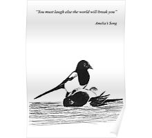Magpies from Amelia's Song Poster