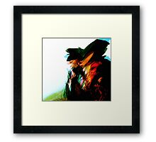 inner mirror #4... looking for the east while moving in the wrong direction Framed Print
