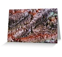 Textured Cork Tree Abstract Greeting Card