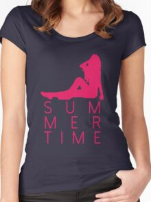 It's Summertime! Women's Fitted Scoop T-Shirt