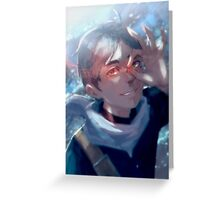 Red Stardust Greeting Card