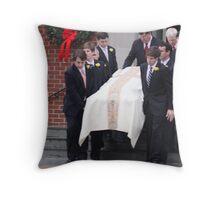 Elizabeth Edwards Funeral Service Throw Pillow