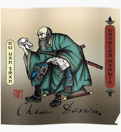 Samurai Charles Darwin Poster