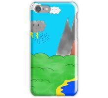 Cartoon landscape iPhone Case/Skin