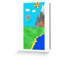Cartoon landscape Greeting Card