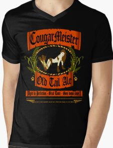 COUGARMEISTER Mens V-Neck T-Shirt