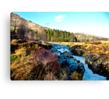 White Water on The River Duddon Canvas Print